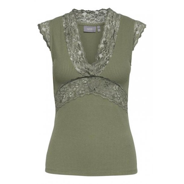 B.Young Toella Lace Top - Green